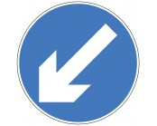 Directional Arrow Left Plate 600mm