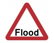 Flood Road Sign Plate 600mm