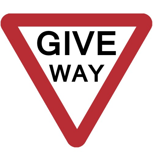 Give Way Plate 750mm Manchester Safety Services