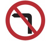 No Left Turn Plate 600mm