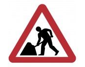 Roadworks Ahead Plate 600mm
