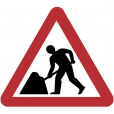 Roadworks Ahead Plate 750mm