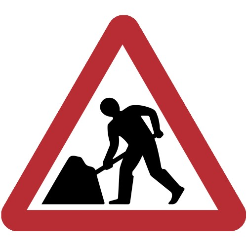 Roadworks Ahead Plate 750mm Manchester Safety Services