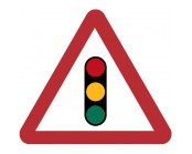 Traffic Signals Ahead Plate 600mm