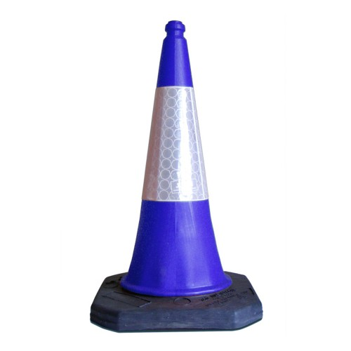 1m Blue Road Cone Manchester Safety Services