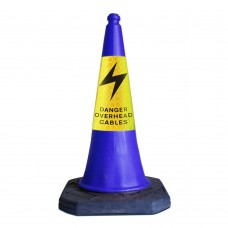 750mm Danger Overhead Cables Road Cone