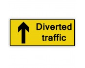 Diverted Traffic Ahead  Plate 1050mm x 450mm