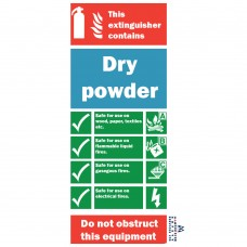 Powder Fire Extinguisher Sign