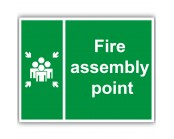 Fire Assembly Point Correx Sign
