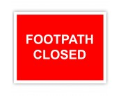 Footpath Closed Correx Sign