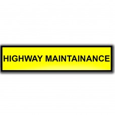 Highway Maintenance Window Cling Sign
