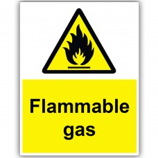 Flammable Gas Correx Sign