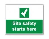 Site Safety Starts Here Correx Sign