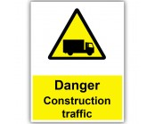 Danger Construction Traffic Correx Sign