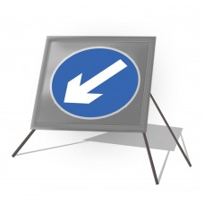 Directional Arrow Left Roll Up Sign