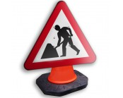 Roadworks Ahead Cone Sign 600mm