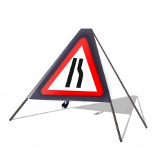 Road Narrows Offside Roll Up Sign
