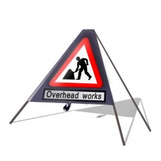 Roadworks Ahead c/w Overhead Works Roll Up Sign