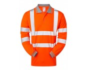 Pulsarail PR470 High Visibility Long Sleeve Polo Shirt