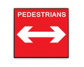 Pedestrians Reversible Arrow Plate 600mm x 450mm