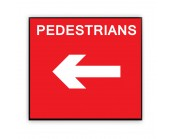 Pedestrians Left Plate 600mm x 450mm