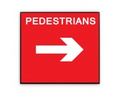 Pedestrians Right Plate 600mm x 450mm