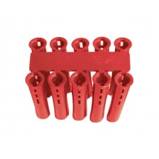 Red Expansion Wall Plugs