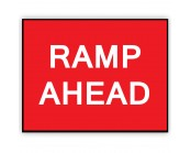 Ramp Ahead Plate 1050mm x 750mm