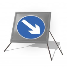 Directional Arrow Right Roll Up Sign