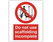 Scaffolding Incomplete Correx Sign