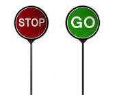 Plastic Stop Go Sign 600mm
