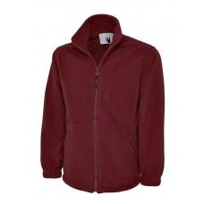 Premium Full Zip Micro Fleece Jacket Maroon