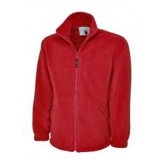 Premium Full Zip Micro Fleece Jacket Red