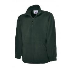Premium 1/4 Zip Micro Fleece Jacket  Bottle Green