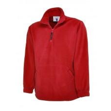 Premium 1/4 Zip Micro Fleece Jacket Red