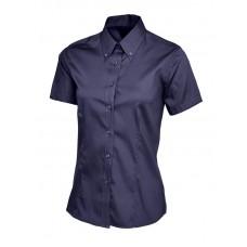 Women's Pinpoint Oxford Half Sleeve Shirt Navy