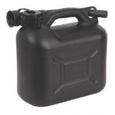 Black Plastic Fuel Can 5 Litre