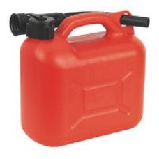 Red Plastic Fuel Can 5 Litre