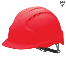 JSP EVO3 Vented Helmet Red