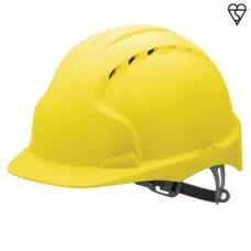 JSP EVO3 Vented Helmet Yellow