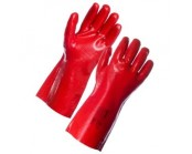 Red PVC Gauntlet 35cm