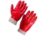 Red PVC Knit Wrist Glove