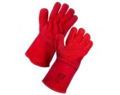Red Kevlar Stitch Welders Gauntlet