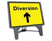 Diversion Ahead Q Sign