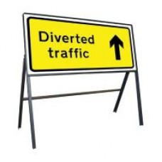 Diverted Traffic Ahead Sign 1050mm x 450mm