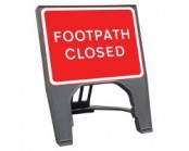 Footpath Closed Q Sign