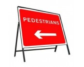600mm x 450mm Pedestrians Left Sign