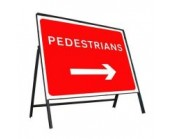 600mm x 450mm Pedestrians Right Sign