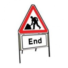 750mm Roadworks Ahead & End Sign