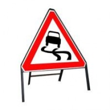 600mm Slippery Road Ahead Sign